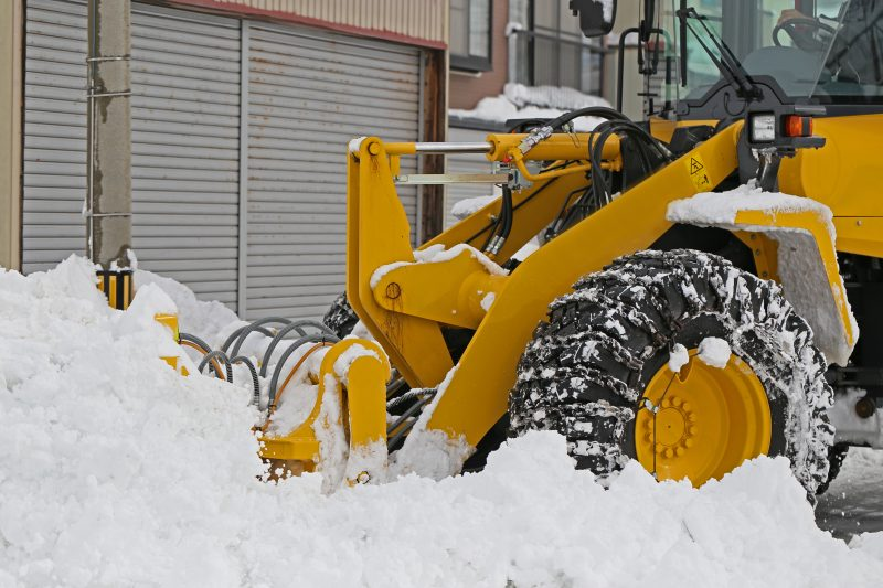 冬期の除雪作業
